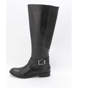 Clark's Black Leather Tall Boot-size 7.5